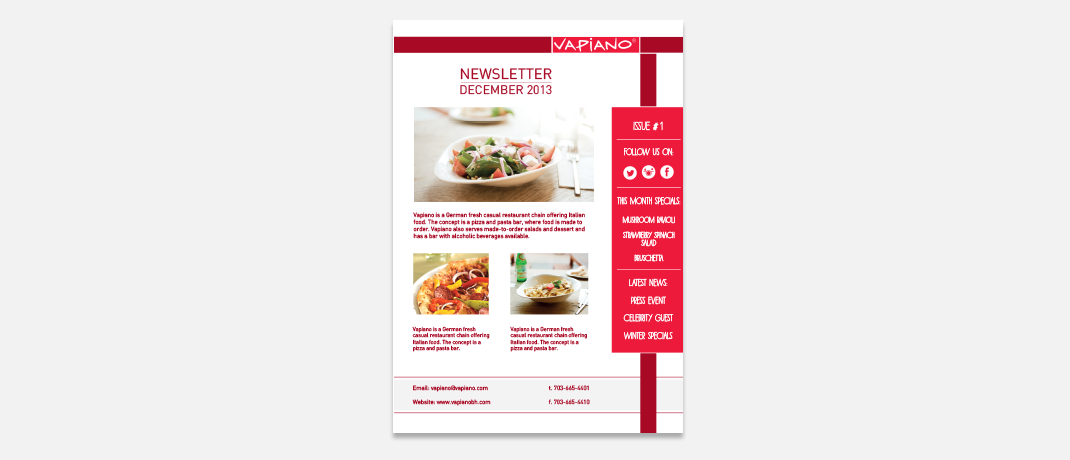 vapiano--newsletter